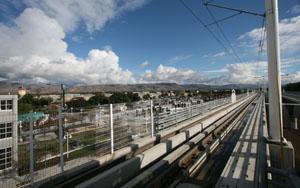 photo of Lightrail tracks